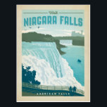 """Niagara Falls, NY Postcard<br><div class=""""desc"""">Anderson Design Group is an award-winning illustration and design firm in Nashville,  Tennessee. Founder Joel Anderson directs a team of talented artists to create original poster art that looks like classic vintage advertising prints from the 1920s to the 1960s.</div>"""
