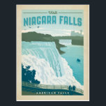 "Niagara Falls, NY Postcard<br><div class=""desc"">Anderson Design Group is an award-winning illustration and design firm in Nashville,  Tennessee. Founder Joel Anderson directs a team of talented artists to create original poster art that looks like classic vintage advertising prints from the 1920s to the 1960s.</div>"