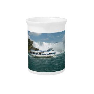 Niagara Falls Ontario Canada Boat picnic Fallsview Beverage Pitcher
