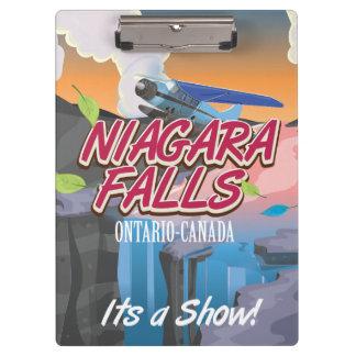 Niagara Falls Ontario Canada travel cartoon Clipboard