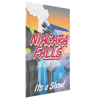 Niagara Falls Ontario Canada travel poster Canvas Print