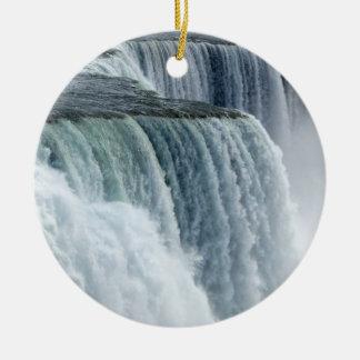 Niagara Falls Double-Sided Ceramic Round Christmas Ornament