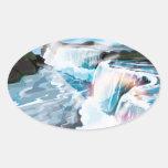 Niagara Falls Oval Sticker