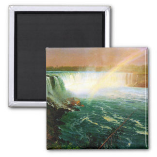 Niagara falls painting art artist Albert Bierstadt 2 Inch Square Magnet