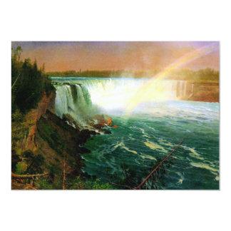 Niagara falls painting art artist Albert Bierstadt 5x7 Paper Invitation Card