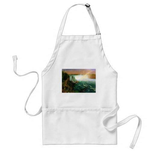 Niagara falls painting art artist Albert Bierstadt Adult Apron
