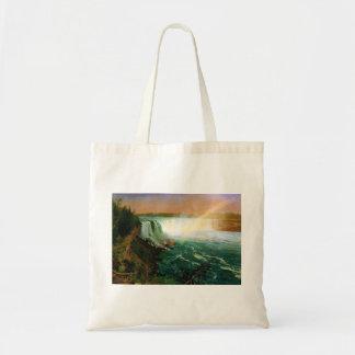 Niagara falls painting art artist Albert Bierstadt Bags