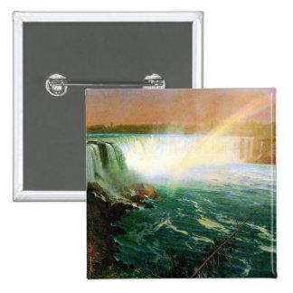 Niagara falls painting art artist Albert Bierstadt Buttons