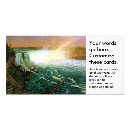 Niagara falls painting art artist Albert Bierstadt Card