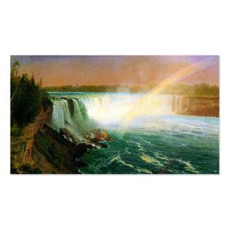 Niagara falls painting art artist Albert Bierstadt Double-Sided Standard Business Cards (Pack Of 100)
