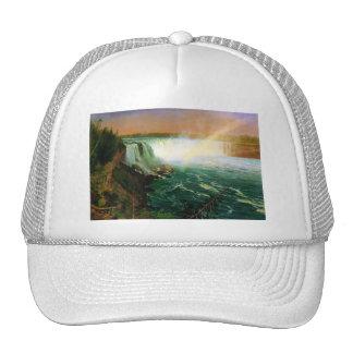 Niagara falls painting art artist Albert Bierstadt Hat