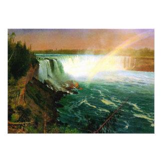 Niagara falls painting art artist Albert Bierstadt Custom Invite