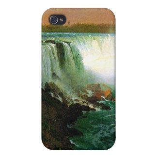 Niagara falls painting art artist Albert Bierstadt iPhone 4 Case