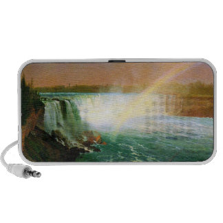 Niagara falls painting art artist Albert Bierstadt iPod Speaker