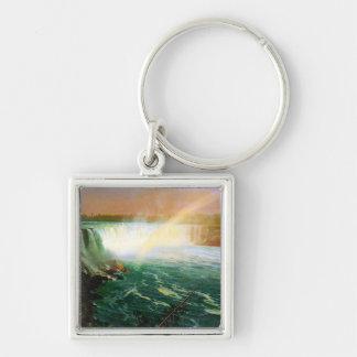 Niagara falls painting art artist Albert Bierstadt Key Chain