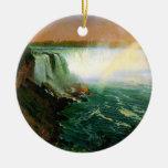 Niagara falls painting art artist Albert Bierstadt Christmas Ornament