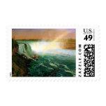Niagara falls painting art artist Albert Bierstadt Stamp