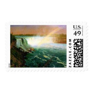 Niagara falls painting art artist Albert Bierstadt Postage