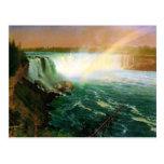 Niagara falls painting art artist Albert Bierstadt Postcard