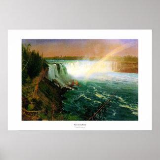 Niagara falls painting art artist Albert Bierstadt Poster