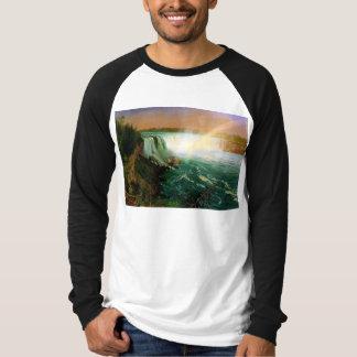 Niagara falls painting art artist Albert Bierstadt T-shirts