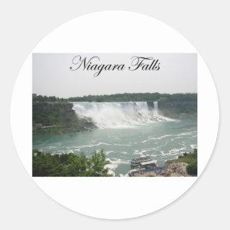 Niagara Falls Pegatina Redonda