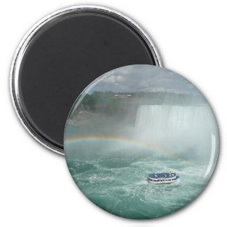 niagara falls rainbow 2 inch round magnet