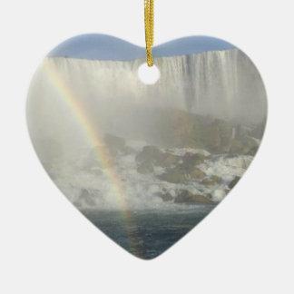 Niagara Falls Rainbow Ceramic Ornament