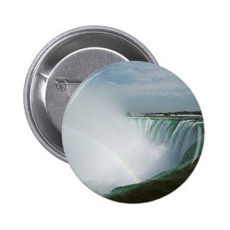 Niagara Falls Rainbow Pinback Button