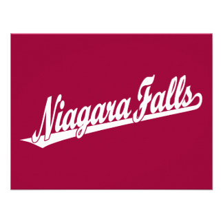 Niagara Falls script logo in white Announcement