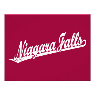 Niagara Falls script logo in white distressed Custom Invitation