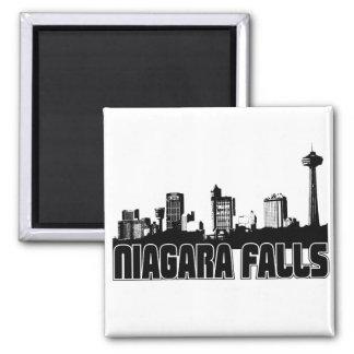Niagara Falls Skyline 2 Inch Square Magnet
