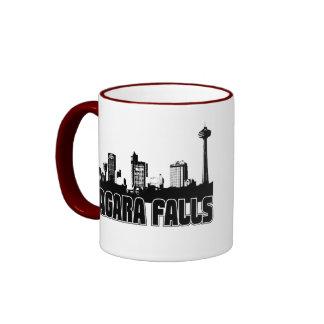 Niagara Falls Skyline Ringer Coffee Mug