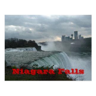 Niagara Falls (texto) Tarjeta Postal
