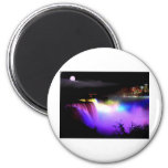 Niagara-Falls-under-floodlights-at-night 2 Inch Round Magnet