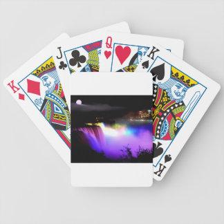 Niagara-Falls-under-floodlights-at-night Bicycle Playing Cards