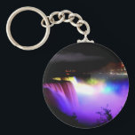 "Niagara-Falls-under-floodlights-at-night Keychain<br><div class=""desc"">Keychain Template</div>"
