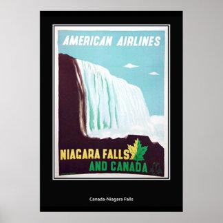 Niagara Falls vintage Retro Print Print