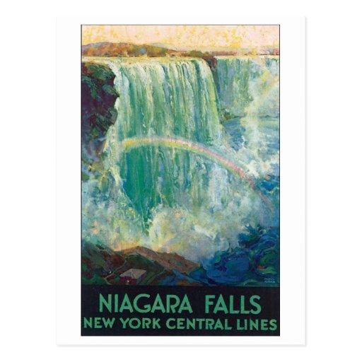 Niagara Falls Vintage Travel Poster Postcard