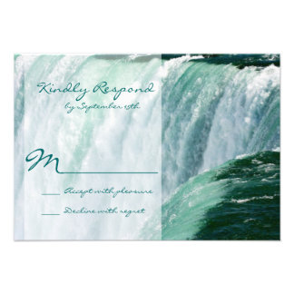 Niagara Falls Waterfall Outdoor Wedding RSVP Cards