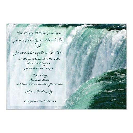 niagara falls waterfall wedding invitations zazzle With niagara falls wedding invitations