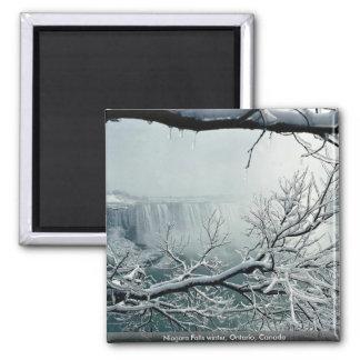 Niagara Falls winter, Ontario, Canada 2 Inch Square Magnet