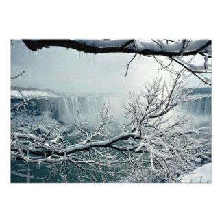 Niagara Falls winter, Ontario, Canada Announcements