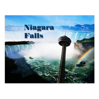 Niagara Falls with rainbow Postcard