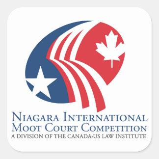 Niagara International Moot Court Competition Square Sticker
