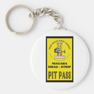 Niagara Pit Pass Basic Round Button Keychain