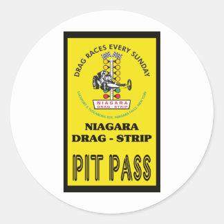 Niagara Pit Pass Classic Round Sticker
