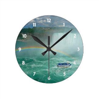 niagara rainbow round clock