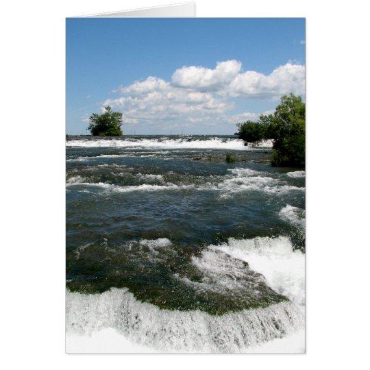 Niagara River Rapids: Niagara Falls, New York Card