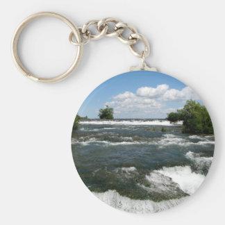 Niagara River Rapids: Niagara Falls, New York Keychain